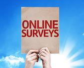 Online Surveys card — Stock Photo
