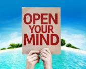 Open Your Mind card — Stock Photo