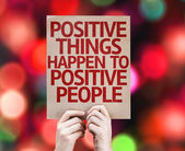 Positive Things Happen to Positive People card — Stock Photo