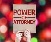Power of Attorney card — Fotografia Stock