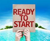 Ready to Start card — Stock Photo