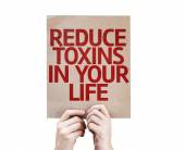 Reduce Toxins In Your Life card — Stock Photo