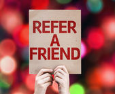 Refer a Friend card — Stock Photo