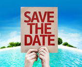 Save The Date card — Stock Photo