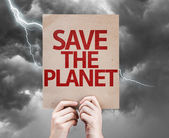 Save The Planet card — Stock Photo