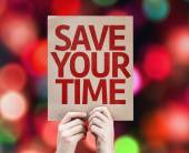 Save Your Time card — Stock Photo