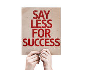 Say Less for Success card — Stock Photo