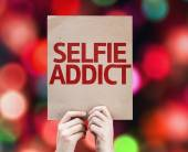 Selfie Addict card — ストック写真