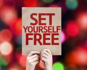 Set Yourself Free card — Stock Photo