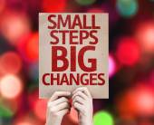 Small Steps Big Changes card — Stock Photo