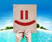 Smiley Face card — Stock Photo