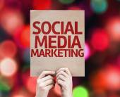 Social Media Marketing card — Stock Photo