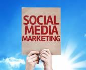 Social Media Marketing card — Stock Photo