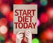 Start Diet Today card — Stock Photo
