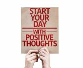 Start your Dat with Positive Thoughts card — Stock fotografie