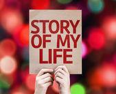 Story Of My Life card — Zdjęcie stockowe