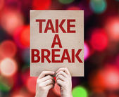 Take a Break card — Stock Photo