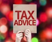 Tax Advice card — Stock Photo