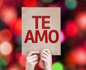 I Love You (In Spanish) card — Stock Photo