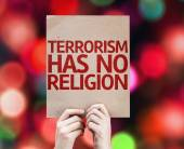 Terrorism Has No Religion card — Stock Photo