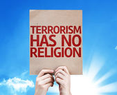 Terrorism Has No Religion card — Stock Photo