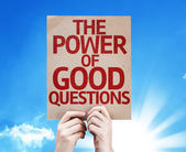 The Power Of Good Questions card — Stock Photo