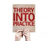 Theory Into Practice card — Stockfoto