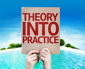 Theory Into Practice card — Stock Photo