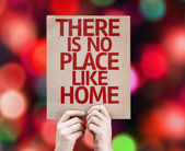 There Is No Place Like Home card — Stock Photo
