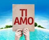 I Love You (In Italian) card — Stock Photo