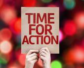 Time For Action card — Stockfoto