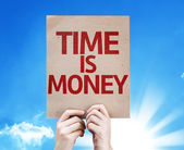Time Is Money card — Stock Photo
