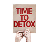 Time To Detox card — Stock Photo