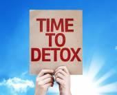 Time To Detox card — Foto de Stock