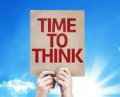 Time to Think card — Stock Photo