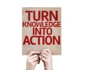 Turn Knowledge Into Action card — Stock Photo