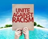 Unite Against Racism card — Stock Photo