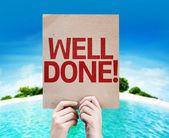 Well Done! card — Foto de Stock