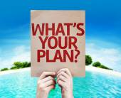 Whats Your Plan? card — Stock Photo