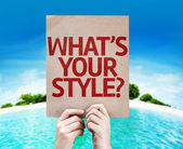 What's Your Style? card — Stock Photo