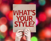 What's Your Style? card — Foto de Stock