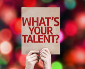 Whats Your Talent? card — Stock Photo