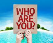 Who Are You? card — Stock Photo