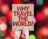 Why Travel The World? card — Stock Photo