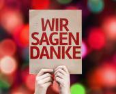 We Say Thank You (In German) card — Stock Photo