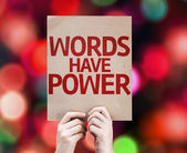 Words Have Power card — Stock Photo