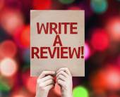 Write a Review card — Stock Photo