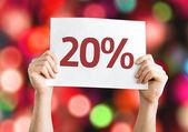 20 percent card — Stock Photo