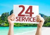 24 Hrs Service card — Stock Photo