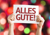 All The Best (in German) card — Stock Photo